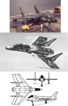Vought F7U Cutlass - unfortunately know as the 'Gutless' by pilots as it was particularly underpowered.