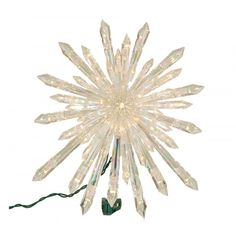 Simple, gorgeous and yet unique - this is a great way to top your tree! Unique Tree Toppers, Lighted Tree Topper, Christmas Tree Star Topper, Wine Supplies, Ceiling Lights, Crystals, Stars, Amazon, Simple