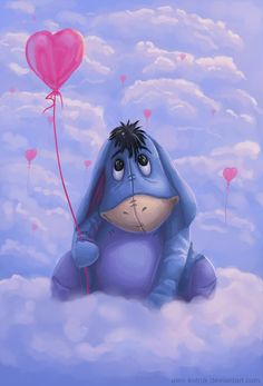 Eeyore and all his pals with Christopher Robin & Winnie the Pooh