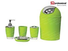 vert offre offre sqprofessional accessoires salledebain moderne accessoires salledebain vert couleur verte porte brosse porte savon bain 5pcs - Accessoire De Salle De Bain Rose
