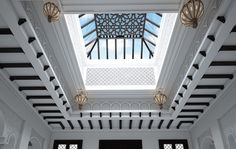 Moroccan Style Interior Design. This skylight is a more traditional example of the riad design.
