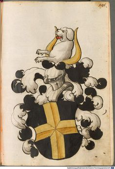 Scheibler'sches Wappenbuch Süddeutschland, um 1450 - 17. Jh. Cod.icon. 312 c Folio 591