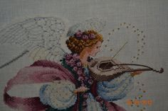 Angel of spring counted cross stitch by EmporiumHouse on Etsy