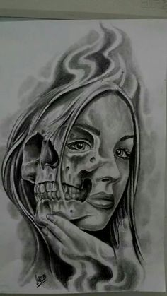 Lessons That Will Get You In The arms of The Man You love Clock Tattoo Design, Tattoo Design Drawings, Skull Tattoo Design, Tattoo Designs, Skull Rose Tattoos, Evil Tattoos, Skull Girl Tattoo, Tattoo Crane, Chicano Drawings