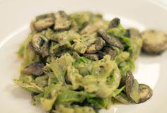 Fast Paleo » Paleo Pesto 'Pasta' with Mushrooms - Paleo Recipe Sharing Site