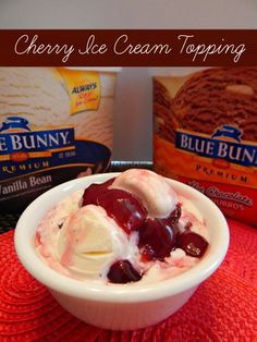 Cherry Ice Cream Topping Recipe + Blue Bunny Ice Cream! #SunsOutSpoonsOut #CollectiveBias #ad