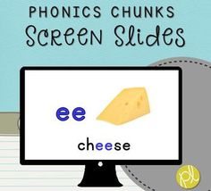 """These are slides that can be displayed for whole or small group phonics practice! Included are 100 PowerPoint presentation slides featuring common phonograms (phonics """"chunks"""") and sounds featured in K-2 curriculum. This set of Screen Slides is also part of my money-saving bundle: Unlimited Screen Slides Literacy Tasks!"""
