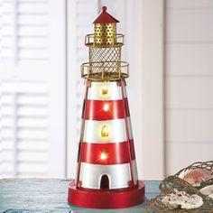 Glass Coastal Lighthouse Lamp