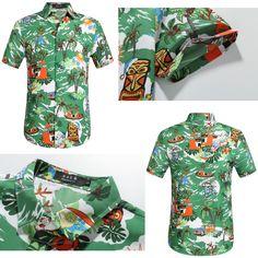 2d50e5a65 Reindeer Christmas Hawaiian shirt #Christmas Party Outfit # Lime Green Style