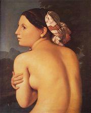 Halffigure of a Bather 1807 Oil on canvas Musee Bonnat (Bayonne, Gascogne, France)