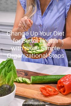 Change Up Your Diet for Better Health with these Simple Organizational Steps - Good dietary habits are a cornerstone of good physical and mental health. The comfort we get from those sugary and fatty meals and snacks does not last long, and you will find that there are alternatives out there that will leave you feeling healthier and better rested. If you need a little help getting into better routines and healthier habits, we have some tips to help you get started. #diet #health #healthydiet