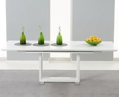 8f15ee7709e2 Buy the Bianco White High Gloss Extending Dining Table at Oak Furniture  Superstore