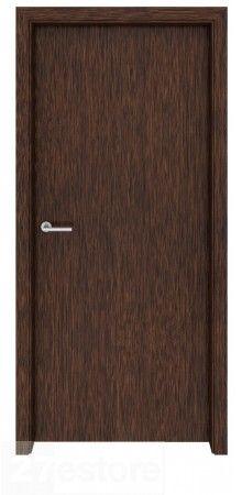 Looking for a #door that blends in with the scenery? This #interior door in dark #walnut veneer will do the trick