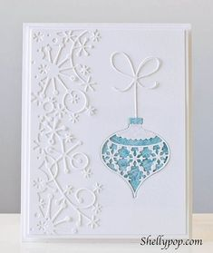 Memory Box Ornament Lovely Christmas card using Memory Box dies by prinsass