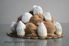 #giorgiapassionecucina: #profiteroles #dolce #ricetta #sweet #recipe #blog #pasticeria #ganache #cioccolato #crema #chantily