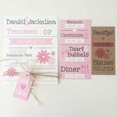 Trouwkaart Daniel & Jackelien - @designbyloes - www.loesvanmastwijk.nl