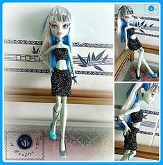 Fashion doll tube top and skirt pattern by Maz Kwok