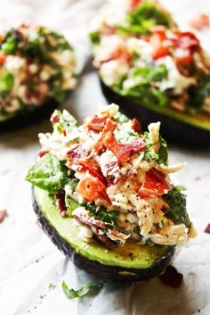 17 Foods that De-Bloat | Slimming Summer Recipes | BLT Chicken Salad Stuffed Avocados