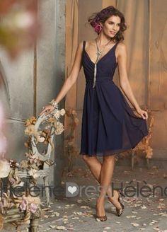 Fashion A-Line V-Neck Knee-Length Bridesmaid Dresses - Bridesmaid Dresses