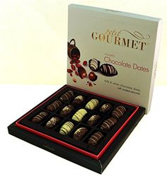 Chocolate Covered Dates ★ Gourmet Milk, White, & Dark Chocolate Medjool Stuffed with Premium Roasted Almonds ★ Petit Gourmet Arabian Sweets ★ Assorted Dessert Gift Box Petit Gourmet http://www.amazon.com/dp/B017VAH2GG/ref=cm_sw_r_pi_dp_aukXwb1N2XC09