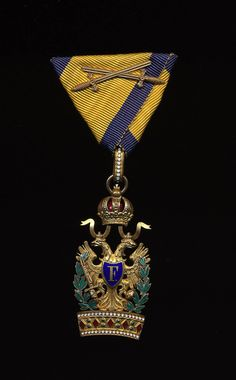 Order of the Iron Crown with crossed swords. Austrian military award