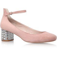 Guess Carvela Kurt Geiger Nude featuring polyvore women's fashion shoes pumps nude ankle wrap pumps mid heel shoes mid heel ankle strap shoes nude court shoes nude shoes