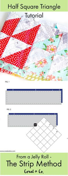 Strip Tube Method Half Square Triangle Tutorial - Strip Piecing Half Square Triangles | Coral + Co.