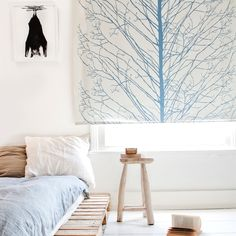 'Blue Tree' roller blind - Contemporary, designer roller blinds from BODIE and FOU | designer roller blind