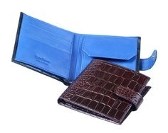 Handmade from fine calf leather with a crocodile skin effectLuxurious cream suede credit card slots with beautifully turned edgesExpandable coin purseSecure tab and stud fasteningSingle note section large enou Man Purse, Crocodile Skin, Coin Wallet, Men's Collection, Calf Leather, Crocs, Calves, Purses, Handbags