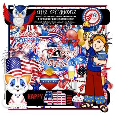 ♥KittzKreationz♥: Happy 4th July FTU Kit