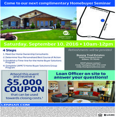 Thinking about home ownership? Want expert advice and personalized action plans? THIS is the seminar for you! RSVP with Cindy Today! 937-570-1152
