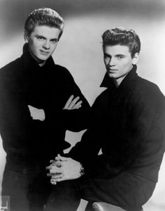 These were my American Idol of the day...The Everly Brothers.  Actually met Don years later, with not so much hair!