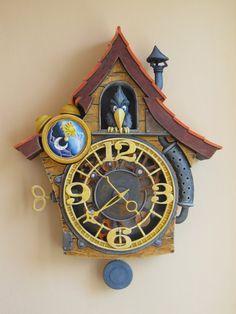 Wood Carving - Hodiny Krákavky ...  Řezbářství Hejkalíci - Tomáš Hejhal Clock, Home Decor, Watch, Decoration Home, Room Decor, Clocks, Home Interior Design, Home Decoration, Interior Design