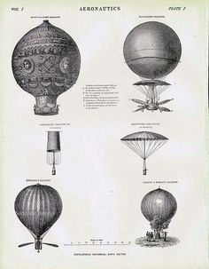Montgolfier's Balloon & Flying Machines 1892 by SurrenderDorothy