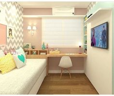 How to make the most of the elongated youth rooms Small Room Bedroom, Small Rooms, Girls Bedroom, Bedroom Decor, Bedrooms, Dream Rooms, Dream Bedroom, Youth Rooms, Fashion Room