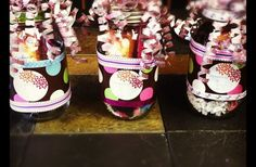 Pampering in a jar = This is a neat way to encourage someone to spoil herself.