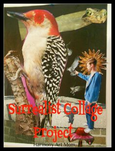 Surrealist Collage Art Project @harmonyfinearts.org I love how this project incorporates a picture of the child