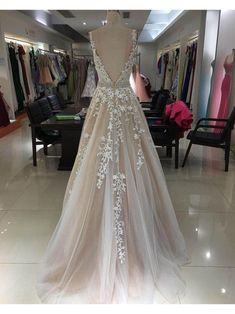 long prom dresses - 2018 Aline Prom Dress Lace Plus Size Cheap Long Prom Drsess Tulle Ball Gown, Ball Gowns Prom, A Line Prom Dresses, Grad Dresses, Long Wedding Dresses, Tulle Dress, Lace Dress, Long Dresses, Tulle Lace