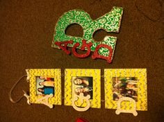 Alpha Gamma Delta crafts I made for my little!