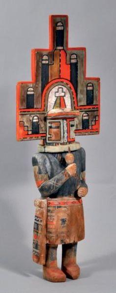 Kachina HEMIS HOPI, Arizona, USA Deuxième moitié du XXème siècle H: 54cm