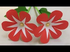 How to Make Beautiful Flower with Paper - Making Paper Flowers Step by Step - DIY Paper Flowers - Paper Crafts Simple Paper Flower, Rolled Paper Flowers, How To Make Paper Flowers, Paper Flower Wall, Giant Paper Flowers, Paper Roses, Paper Flower Making, Diy Crafts Paper Flowers, Easy Paper Crafts