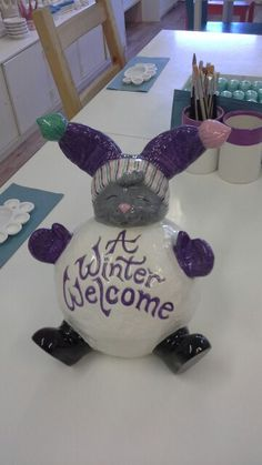 Winter welcome bunny