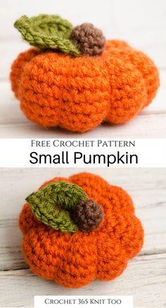 Crochet Pumpkin Pattern, Halloween Crochet Patterns, Crochet Bee, Kawaii Crochet, Crochet Food, Crochet Patterns Amigurumi, Cute Crochet, Crochet Crafts, Crochet Fall Decor