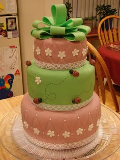 Ladybug cake by Christine S for a Shelter. Birthday Cakes 4 Free Twin Cities, MN www.birthdaycakes4free.com #cake