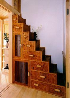 Japanese Staircase Shelf