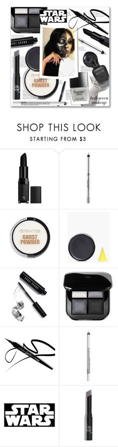 """Star Wars Halloween Makeup"" by leanne-mcclean ❤ liked on Polyvore featuring e.l.f., Deborah Lippmann, Anastasia Beverly Hills, Boohoo, Bobbi Brown Cosmetics, NYX, Hallmark and Rituel de Fille"