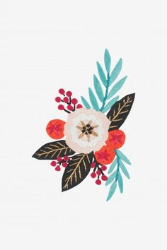 Find hundreds of free embroidery patterns for all skill levels, to personalise your accessories and decorate your home. Embroidery Transfers, Embroidery Patterns Free, Hand Embroidery, Cross Stitch Patterns, Embroidery Designs, Flamingo Pattern, Elephant Pattern, Illustration Blume, Pattern Illustration