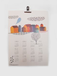 Beatrice Cerocchi Illustration, Calendar 2014 Calendar 2014, Print Calendar, Calendar Design, Building Illustration, Type Illustration, Desk Calender, Creative Calendar, Graphic Design Branding, Patterns
