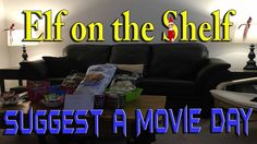 Our Elves on the Shelf are just hanging around wanting to have a nice relaxing movie day ________________________________________ The Elf Tradition Have you . The Elf, Elf On The Shelf, Shelf Ideas, Shelves, Couch, Traditional, Day, Movies, Furniture