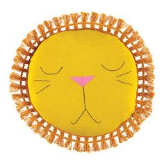Sleeping Lion pillow with fun fringe is a perfect, precious gift they will keep for years. Face features are all hand embroidered. Made from Certified Orga Baby Shower Gifts, Baby Gifts, Sleeping Lion, Unicorn Pillow, Modern Kids, Kids Prints, Baby Decor, Baby Sewing, Diy For Kids